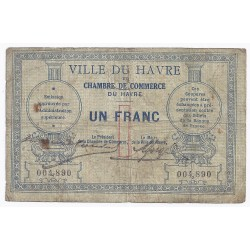 COUNTY 76 - LE HAVRE - CHAMBER OF COMMERCE - 1 FRANC