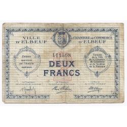 76 - ELBEUF - CHAMBRE DE COMMERCE - 2 FRANCS