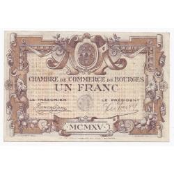 18 - BOURGES - CHAMBRE DE COMMERCE - 1 FRANC