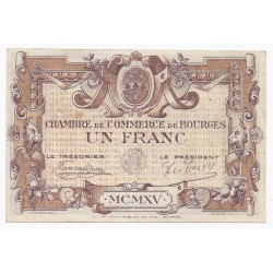 COUNTY 18 - BOURGES - CHAMBER OF COMMERCE - 1 FRANC