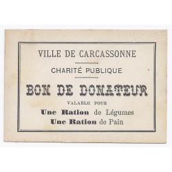 11 - CARCASSONNE - BON DE DONATEUR