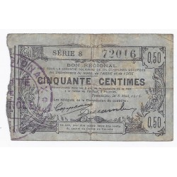 59 - 02 - 60 NORD AISNE OISE - 50 CENTIMES 08.05.1916