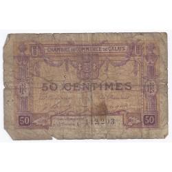 62 - CALAIS - CHAMBRE DE COMMERCE - 50 CENTIMES - 1ère Émmission