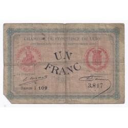 70 - LURE - CHAMBRE DE COMMERCE - 1 FRANC - 25/09/1915