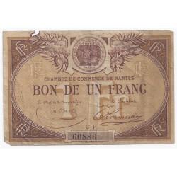 44 - NANTES - CHAMBRE DE COMMERCE - 1 FRANC