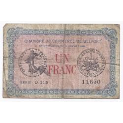 90 - BELFORT - CHAMBRE DE COMMERCE - 1 FRANC - 06/01/1916