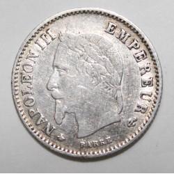 GADOURY 305 - 20 CENTIMES 1868 A Paris TYPE NAPOLEON III - KM 778