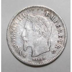 GADOURY 309 - 20 CENTIMES 1867 BB Strasbourg TYPE NAPOLEON III - KM 808