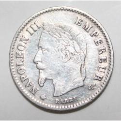 GADOURY 309 - 20 CENTIMES 1867 A Paris TYPE NAPOLEON III - KM 808