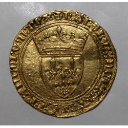 FRANCE - FR 291 - CHARLES VI - 1380 - 1422 - GOLDEN ECU WITH CROWN