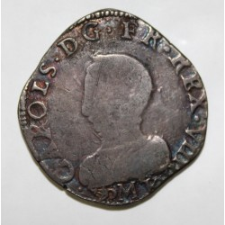 Dup 1063 var - CHARLES IX - TESTON 1562 M Toulouse