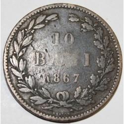 ROUMANIE - KM 4.1 - 10 BANI 1867
