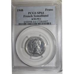 SOMALILAND FRANÇAIS - KM PE1 - 1 FRANC 1948 - PIEFORT ESSAI - 104 ex. - PCGS SP 64