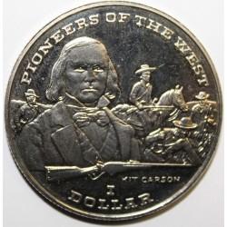 LIBERIA - 1 DOLLAR 1996 - RIT CARSON - KM 272