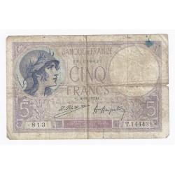 FAY 03/07 - 5 FRANCS VIOLET - 16/08/1923 - TRES BEAU - PICK 72