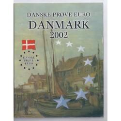 DANEMARK - COFFRET PROTOTYPE 8 PIECES - ESSAI - 2002 - DV