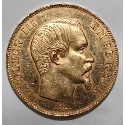 FRANKREICH - KM 785 - 50 FRANCS 1857 A - GOLD - NAPOLEON III - AN DER RAND ANSCHLAGEN