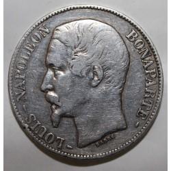 GADOURY 726 - 5 FRANCS 1852 A - Paris - TYPE LOUIS NAPOLEON BONAPARTE - KM 773