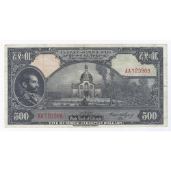 ETHIOPIE - PICK 17 - 500 DOLLARS - 1945 - TRES TRES BEAU