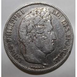 GADOURY 678 - 5 FRANCS 1833 M - Toulous - TYPE LOUIS PHILIPPE 1er - KM 749
