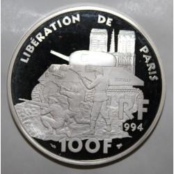 GADOURY C87 - 100 FRANCS 1994 - LA LIBERTÉ RETROUVÉE - LIBERATION DE PARIS - KM 1045.2