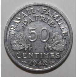 GADOURY 425 - 50 CENTIMES 1942 - TYPE BAZOR - KM 914