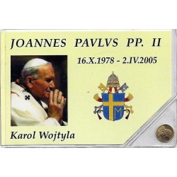 VATICAN - MEDAILLETTE - PAPE JEAN PAUL II - PLAQUE OR
