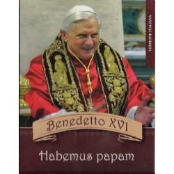 VATICAN - BENEDETTO XVI - HABEMUS PAPAM - COFFRET PROTOTYPE 8 PIECES - ESSAI - 2005 - VERSION ITALIENNE