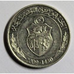 TUNISIA - KM 346 - 1/2 DINAR 2009 - FAO