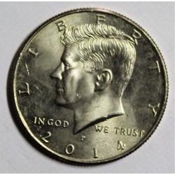 ÉTATS UNIS - KM A202b - 1/2 DOLLAR 2014 - JOHN F. KENNEDY