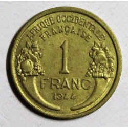 AFRIQUE OCCIDENTALE FRANCAISE - KM 2 - 1 FRANC 1944 - MARIANNE