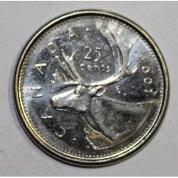 CANADA - KM 184b - 25 CENTS 2001 - ELISABETH II - CARIBOU