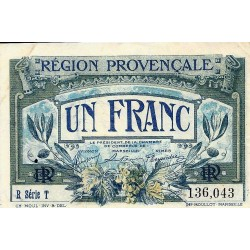 COUNTY 13 - PROVENCAL REGION - CHAMBER OF COMMERCE TO MARSEILLE - 1 FRANC 1922