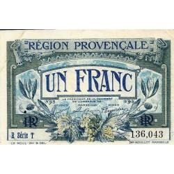 KOMITAT 13 - PROVENZALISCHE REGION - HANDELSKAMMER MARSEILLE - 1 FRANC 1922