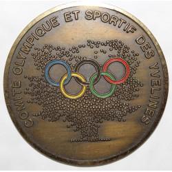 MÉDAILLE - 4ème JEUX SPORTIFS DES YVELINES - COMITÉ OLYMPIQUE ET SPORTIF - 13 Mai - 9 Juin 1990