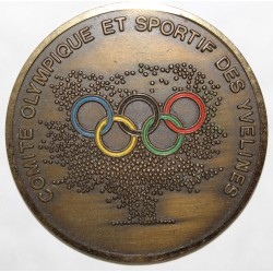 MEDAL - 4th SPORTING GAMES OF THE YVELINES - OLYMPIC AND SPORTING COMMITTEE - 13th May - 9th June 1990