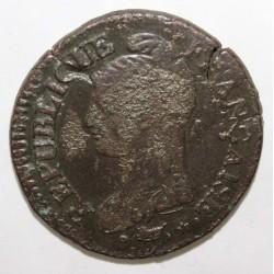 FRANKREICH - KM 640 - 5 CENTIMES 1796 - AN 5 D - Lyon - TYP DUPRÉ