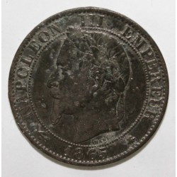 FRANCE - KM 797 - 5 CENTIMES 1865 A - Paris - TYPE NAPOLÉON III