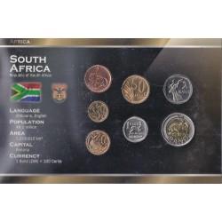 SÜDAFRIKA - REIHE VON 5, 10, 20, 50 CENT UND 1, 2, 5 RAND - WORLD MONEY