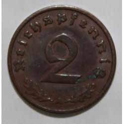 ALLEMAGNE - KM 90 - 2 REICHSPFENNIG 1937 A - Berlin