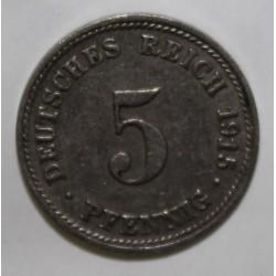 ALLEMAGNE - KM 11 - 5 PFENNIG 1915 D - Munich
