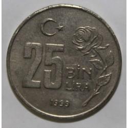 TURQUIE - KM 1041 - 25 BIN LIRA 1999 - Mustafa Kemal Atatürk