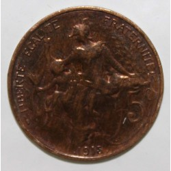 GADOURY 165 - 5 CENTIMES 1915 - TYPE DUPUIS - KM 842