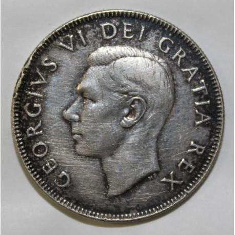 CANADA - KM 45 - 50 CENTS 1950 - Var. LIGNE DANS LE 0 - GEORGE VI