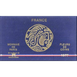 FRANCE - UNCIRCULATED COIN SET - 1977 B