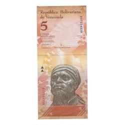 VENEZUELA - PICK 89 - 5 BOLIVARES - 03.09.2009