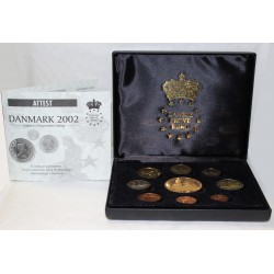 DENMARK - PROTOTYPE PROOF COIN SET 2002 - TRIAL - 9 COINS