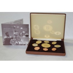 BULGARIA - PROTOTYPE PROOF COIN SET 2004 - TRIAL - 9 COINS