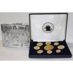 MALTA - PROTOTYPE PROOF COIN SET 2004 - TRIAL - 9 COINS