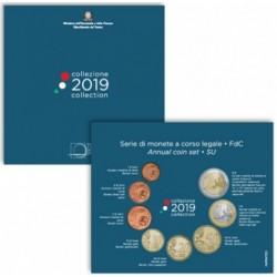 ITALY - 3.88 € - MINTSET BU 2019 - 8 COINS